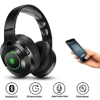 Bluetooth Headphone With Detachable Noise Canceling Mic(Green)