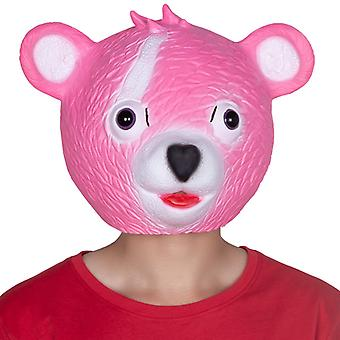 Halloween Party Mask Latex Mask Stage Performance Props Fort Night Pink Bear Mask Cos Dress Up