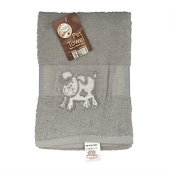 Country Club se peloter serviette 60x120cm gris chien
