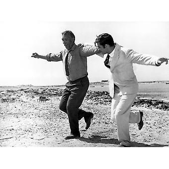 ゾルバ ギリシャのアンソニー ・ クインのアラン ・ ベイツ 1964年ギリシャ ダンス Tm と著作権 20 世紀フォックス映画株式会社すべての権利予約礼儀エベレット コレクション写真印刷