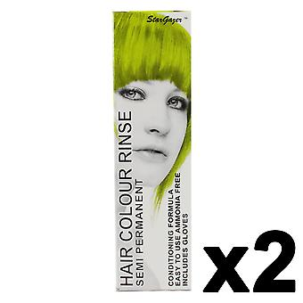 Semi Permanent Hair Dye by Stargazer - Lime x 2 Packs