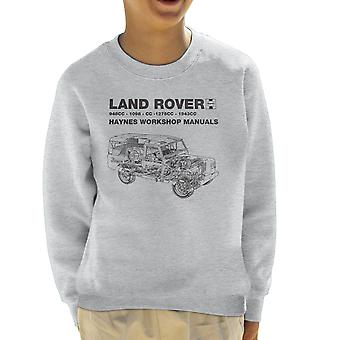 Haynes Workshop Manual Land Rover Black Kid's Sweatshirt