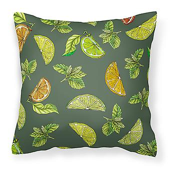 Lemons, Limes and Oranges Fabric Decorative Pillow