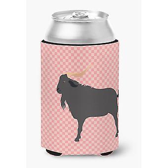 Carolines Treasures  BB7882CC Verata Goat Pink Check Can or Bottle Hugger