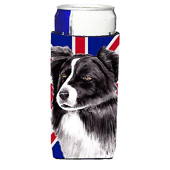 Border Collie con inglese Union Jack bandiera britannica Ultra bevanda isolanti per