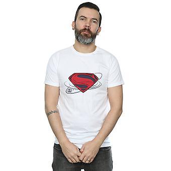 DC كاريكاتير الرجال & apos;ق العدالة دوري الفيلم سوبرمان شعار تي شيرت