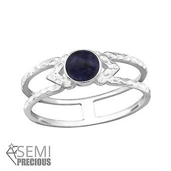 Double Line - 925 Sterling Silver Jewelled Rings - W32346X