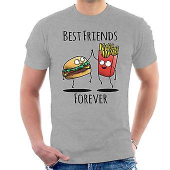 Cheeseburger und Pommes frites beste Freunde für immer Männer T-Shirt