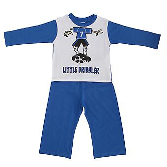 Baby Little Dribbler Football Long Sleeve Top & Bottoms/Trouser Pyjama Set