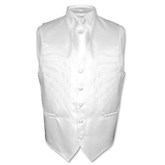 Men's Dress Vest & NeckTie Woven Neck Tie Horizontal Stripe Design Set