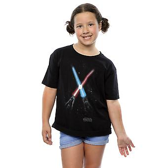Star Wars Girls gekreuzt Lichtschwert T-Shirt