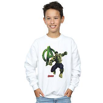 Marvel Boys Hulk Pose Sweatshirt