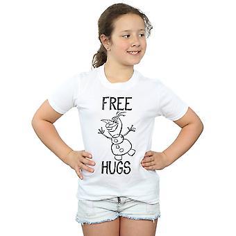 Disney Mädchen eingefroren Olaf kostenlose Umarmungen T-Shirt