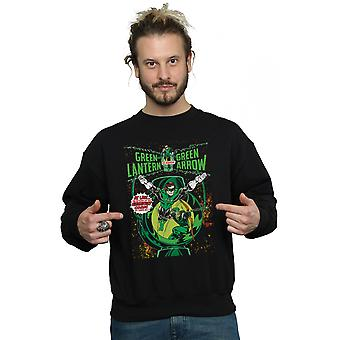 DC Comics Men's Green Lantern Arrow Cover Sweatshirt