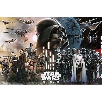 Rogue-um - galáxia - A história de Star Wars Poster Print