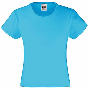Fruit of the Loom Girls Colours Valueweight Cotton Crew Neck Short Sleeve TShirt