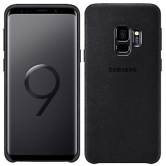 Housse de Samsung Alcantara XG960ABEGWW EF pour Galaxy S9 G960F sac Housse Etui noir