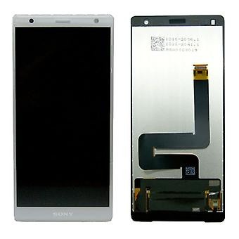 Sony display LCD complete unit for Xperia XZ2 H8266 silver spare parts new