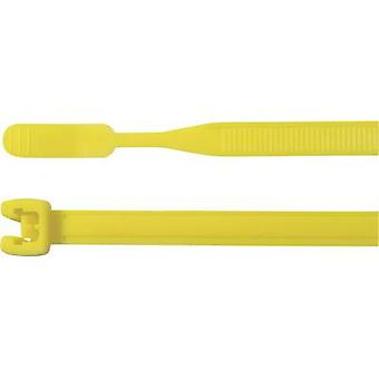 HellermannTyton 109-00195 Q50L-PA66-YE-C1 Cable tie 410 mm 4.70 mm Yellow Open end 100 pc(s)