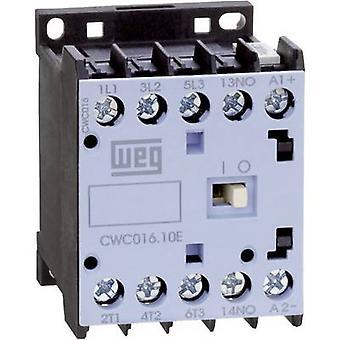 WEG CWC012-10-30D24 contactor 3 beslutsfattare 5,5 kW 230 V AC 12 A + extra kontakt 1 st. (s)