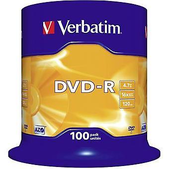Verbatim 43549 lege DVD-R 4,7 GB 100 PC (s) spindel