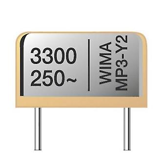 Wima MP 3-X2 0,1uF 275V 20% RM 22,5 1 pc(s) MP3-X2 suppressiecondensator Radiale lood 0,1 μF 275 V AC 20 % 22,5 mm (L x W x H) 28 x 8 x 20 mm