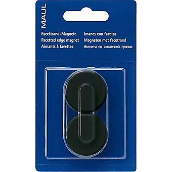Maul magneet MAULpro (Ø x H) 34 mm x 13 mm rond, facet Edge zwart 2 PC (s) 6178290