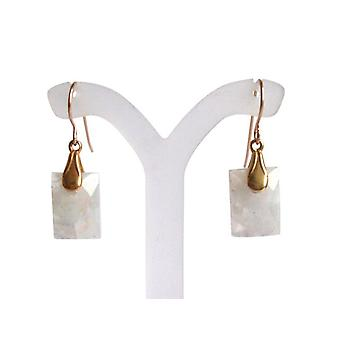 Moonstone earrings moonstones Moon stone earrings gold plated
