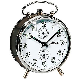Atlanta anthracite silver mechanically around 1065/4 mechanical alarm clock