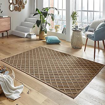 Design viscose rug Danton in relief look Brown