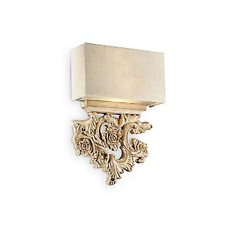 Ideal Lux Peter Designer Twin Wall Light, Rich Gold