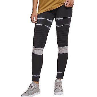 Urban classics damer - tie dye biker Leggings svart