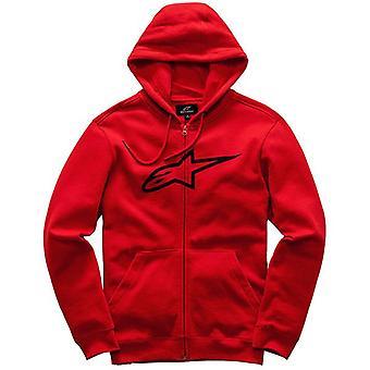Alpinestars Hooded Fleece ~ Ageless II red