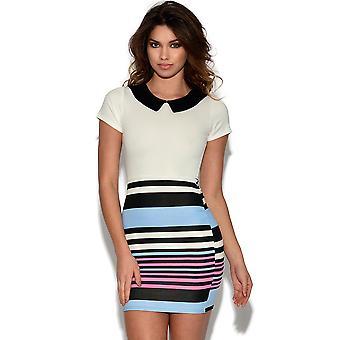 Contrast Striped 2 in 1 Dress