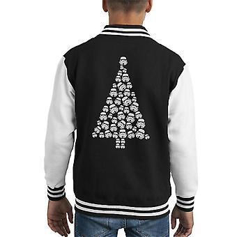 Original Stormtrooper Trooper Christmas Tree Kid's Varsity Jacket