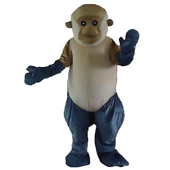 SPOTSOUND of Brown, gray and white, giant monkey mascot