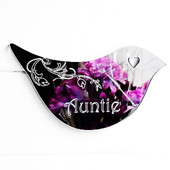 Floral Dove Acrylic Mirror Door or Wall Sign - AUNTIE