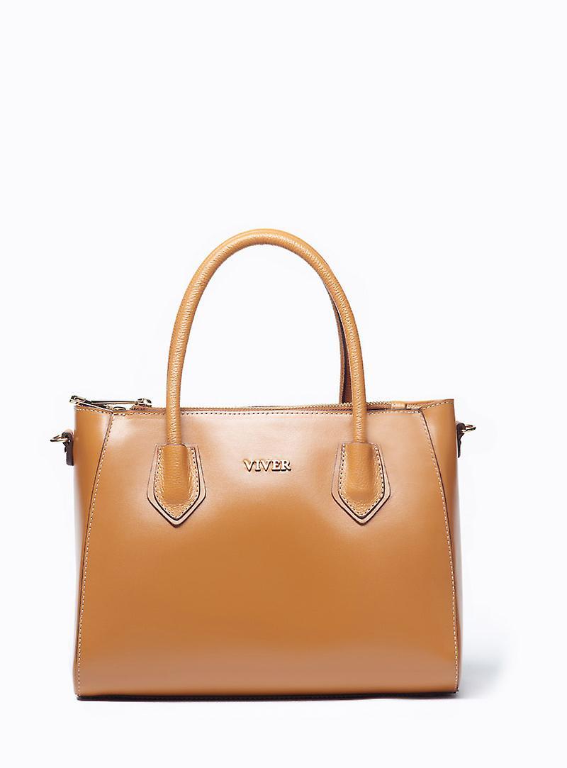 VIVER Leather Handbag Sonata Tan