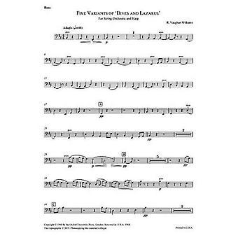 Fem varianter på 'Dykk og Lasarus': kontrabass