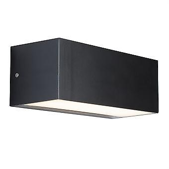 Store mørk grå rektangelet LED utendørs Wall Light - søkelys 8735GY