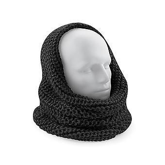 Snood halsduk Chunky sticka finns i svart eller grå