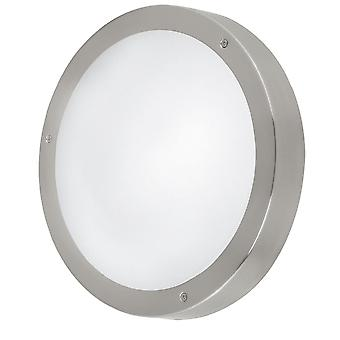 Eglo (94121) Vento 1 LED Outdoor Wall Or Ceiling Light In Stainless Steel