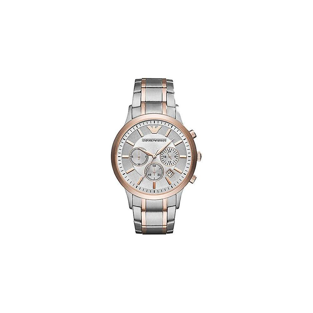 Armani Watches Ar11077 Stainless & Rose Gold Men's Chronograph Watch