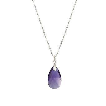 Evige samling Brilliance Tanzanite østrigske Peardrop krystal Sterling sølv vedhæng