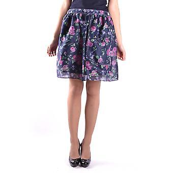Carven Ezbc234004 Women's Blue Cotton Skirt