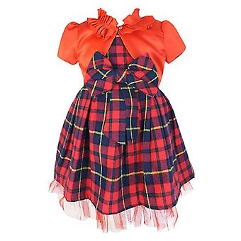 Couche Tot Tartan Sleeveless Party Red Check Christmas Dress
