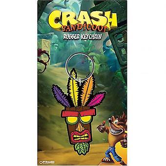 Crash Bandicoot PVC Keyring Aku Aku