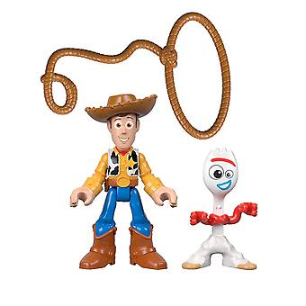 Disney Pixar Toy Story 4 Imaginext Woody & Forky 2 Pack GBG90