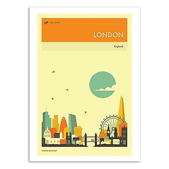 Art-Plakat - London Travel Plakat - Jazzberry Blue