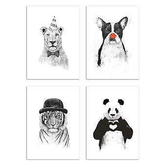4 Art-Poster 20 x 30 cm - Funny Animals - Balazs Solti 20 x 30 cm
